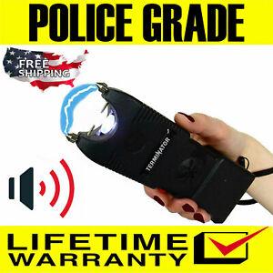 Terminator Max Power Police Grade Stun Gun SGTSIRBL-650 BV Ear-Piercing Siren