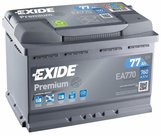 Batteria avviamento automobile EXIDE EA770 12v 77ah 760A 278x175x190mm