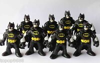 lot 8 Imaginext DC Super Friends Batman BLACK Action Figure Fisher-Price Hero