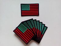 10 Pcs Rasta Usa Flag Embroidered Patches 3.5x2.25
