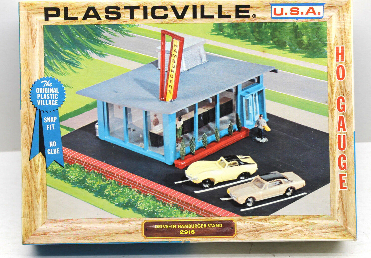 Vintage Bachmann Bros Plasticville USA Drive-In Hamburger Stand 2916 HO Snap Fit