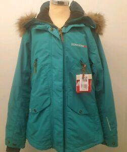 12 Didriksons uk Turquoise 38 Ronja Jacket coat zu Details Size Womens N0PwnOkX8
