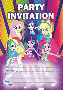 Image Is Loading 10 X My Little Pony Equestria Girls Birthday