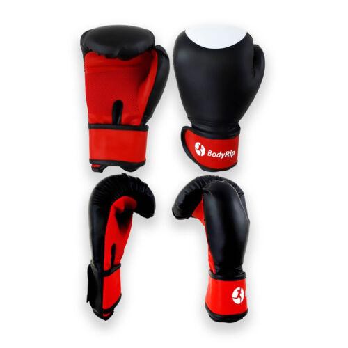Pro Leather Boxing Gloves 12oz │Punching Mitts Pro Kick Muay Thai UFC by BodyRip