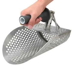 Beach-Sand-Scoop-Shovel-Metal-Detector-Detecting-Gold-Silver-Hunting-Tool-CooB