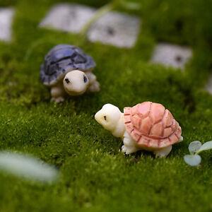 2x Miniatur Puppenhaus Bonsai Fee Garten Landschaft Diy Schildkröte