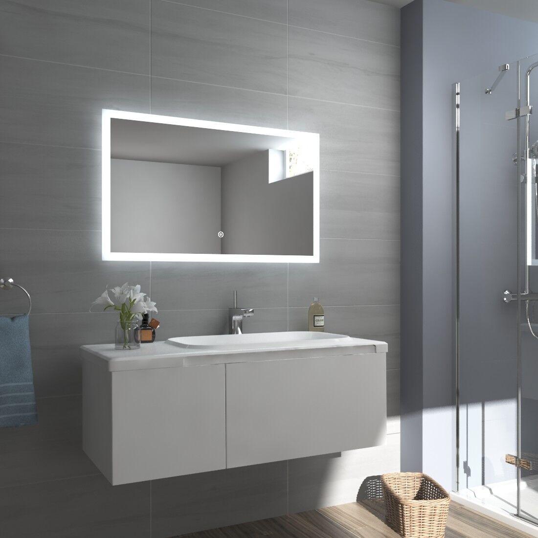 Lichtspiegel Badspiegel LED 80x60 60x80 Spiegel Badezimmerspiegel Wandspiegel