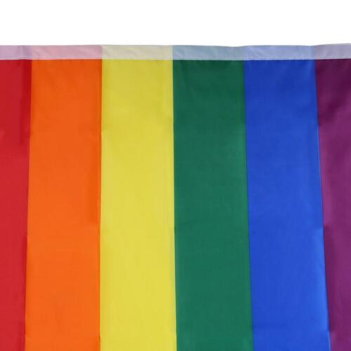 Decoration Colorful Hand Banner LGBT Rainbow Flag Party Polyester Gay Pride 6T