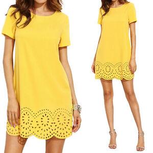 Fashion-Women-Summer-Short-Sleeve-Party-Evening-Cocktail-Short-Mini-Dress-New
