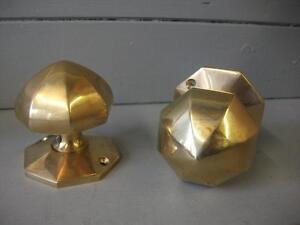 OCTAGONAL DOOR KNOBS - medieval /gothic style - solid brass . | eBay