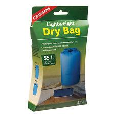 55L LIGHTWEIGHT DRY BAG, WATERPROOF SEAMS,RIP STOP,ROLL-TOP CLOSURE BLUE NIB!