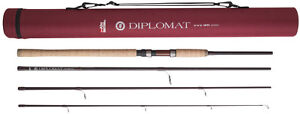 Abu-Garcia-Diplomat-Carbon-Travel-Spinning-Rod-4PC-Carry-Case-8FT-9FT-amp-10FT