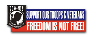 Freedom-Is-Not-Free-Bumper-Sticker-6-034-Sticker-Decal