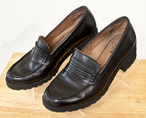 Eastland-Women-039-s-9M-Black-Newbury-Leather-Loafer