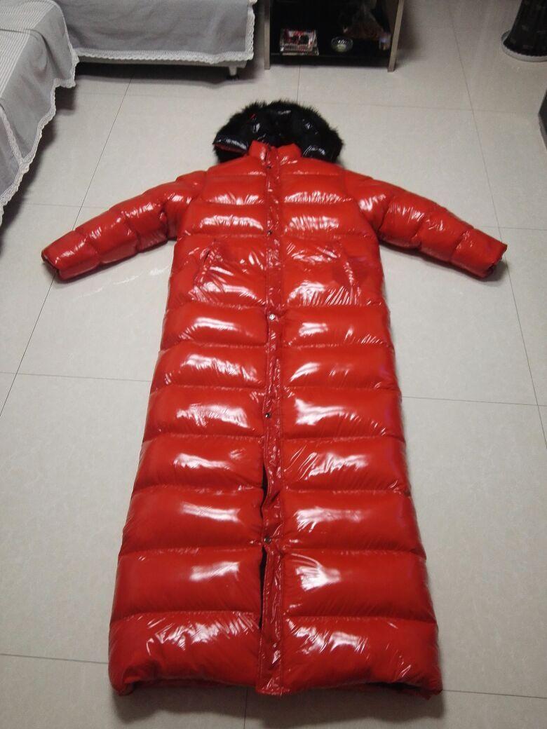 258e8cd807 Unisex in nylon nylon nylon lucido effetto Borsanato EFFETTO PIUMINO ...