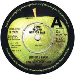 Demo Paul Mccartney Wings Junior S Farm Apple R 5999 Repro Sticker Beatles Ebay