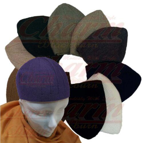 Summer Woolen Mens Children Skull Beanie Cap Mosque Hat Topi Kufi Islamic Muslim