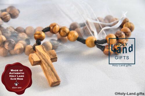 Legno di ulivo Rosario Cattolico in Legno Preghiera cavo di terra Santa Gerusalemme Betlemme