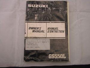 SUZUKI-GS550-GS550L-1983-OWNERS-MANUAL-MANUEL-DU-PROPRIETAIRE