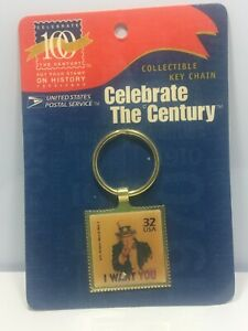 Vtg-I-want-You-Celebrate-The-Century-Uncle-Sam-Collectible-USPS-Key-Chain-WWI