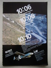 10/1983 PUB IAI ISRAEL UAV UNMANNED AIR VEHICLE SCOUT MINI RPV DRONE ORIGINAL AD