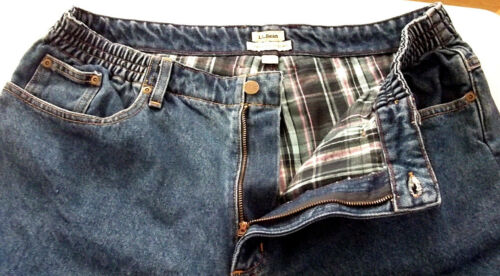 fit a fodera banda flanella elastica in 18 Ll di denim in Bean fit Jeans Mt con taglia originale PFqCwF