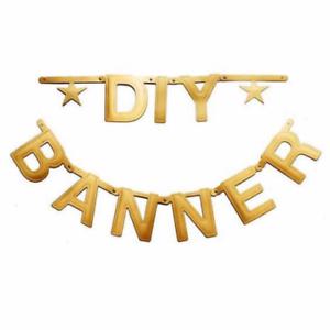 Golden Letters Symbols To Diy Banner Birthday Wedding Baby Shower Party Decor Ebay