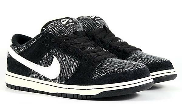 Nike SB Dunk Low PRO Warmth Pack Black White Grey Wool Sweater 685174-005 Price reduction Cheap women's shoes women's shoes