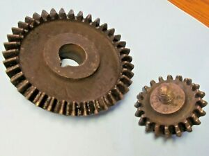Antique-Chandler-and-Price-C-amp-P-Letterpress-Split-Ink-Plate-GEARS-Printing-Press