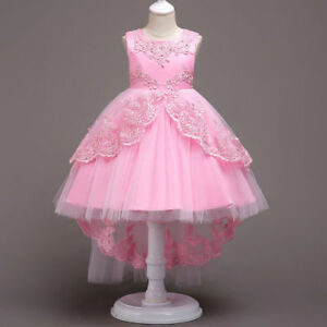 Girls-Dress-Fancy-Formal-Graduation-Wedding-Bridesmaid-Gown-Christmas-Gifts-B2