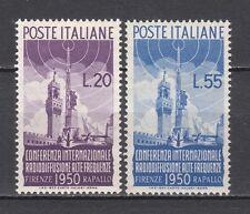 ITALIA 1950 Radiodiffusione cmpl 2 v** centratissimi