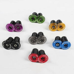 Road MTB Bike Aluminum Expander flat bar Handlebar Grips Bar top Cap End Plugs
