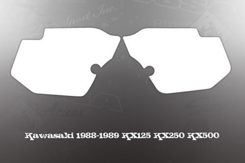 KAWASAKI 1988-1989 KX125 KX250 KX500 SIDE COVER DECALS