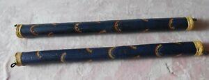 Paire De Bamboo Pluie Bâtons Aboriginal Dot Peinture Avec Arc-en-design, 80 Cm-afficher Le Titre D'origine ArôMe Parfumé