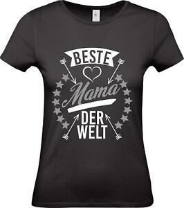 Shirtstown-Lady-T-Shirt-beste-Mama-der-Welt-Familie