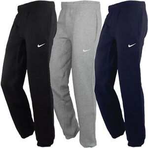 71d4f4dca96f76 Nike Club Cuffed Pant Herren Fleece Jogginghose schwarz grau warm ...