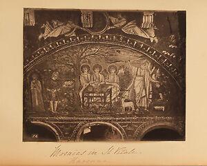 Italia-Mosaici-Basilica-Saint-Vital-Ravenna-Vintage-Albumina-Ca
