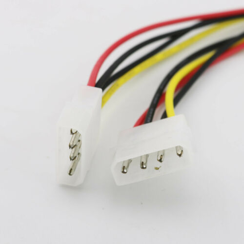1pc Molex 4 Pin Male to LP4 Male Power Extension Adapter Connector Cable 30cm