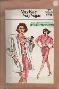 100% De Qualité Uncut Vogue 7253 Ample Veste, Chemisier Et Jupe Sewing Pattern (8-12)-afficher Le Titre D'origine