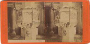 Florence Firenze Italia Foto Stereo Vintage Albumina Ca 1880