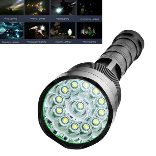 Tactical Security 16XT6 LED Flashlight 90000LM 5-Mode 18650 lamp Torch Light TP