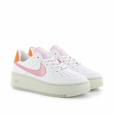 Nike Wmns Air Force 1 Sage Low White Digital Pink Platform Shoes Trainers  Womens | eBay