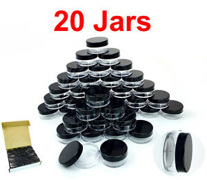 20-Packs-10-Gram-10ML-High-Quality-Makeup-Cream-Cosmetic-Sample-Jar-Containers
