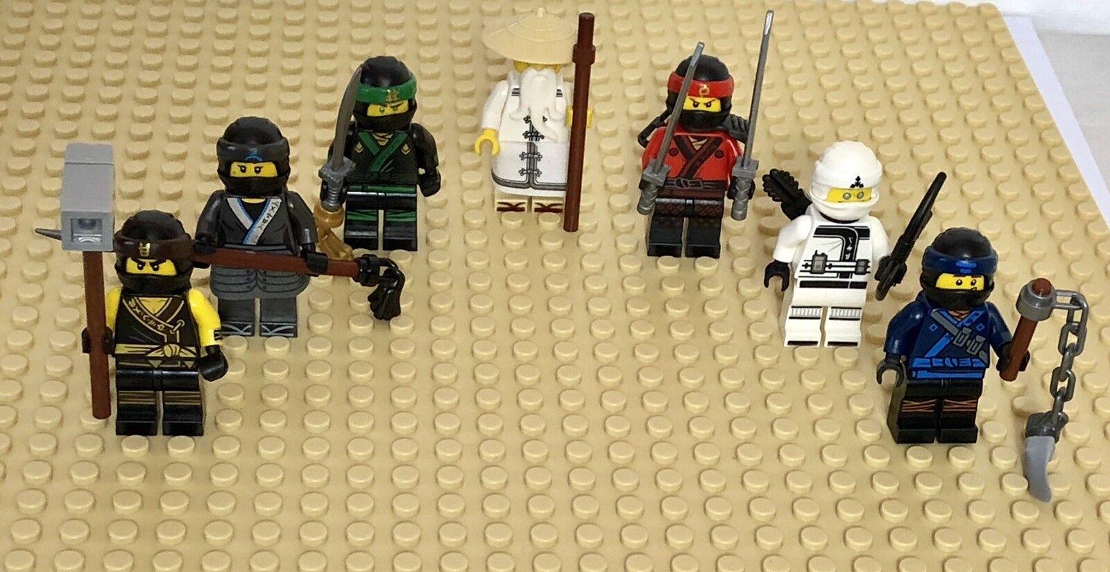 LEGO Ninjago Movie 7 Minifigures c w Weapons Split from 70618 Destiny's Bounty