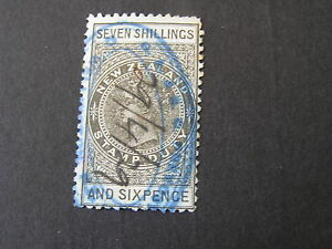 NEW-ZEALAND-SCOTT-AR-9-7sh-6p-VALUE-POSTAL-FISCAL-PEN-CANCELLED-USED