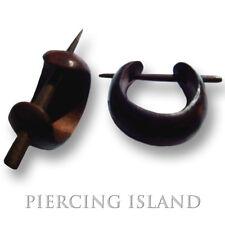 Kleine Holz Ohrringe Goa Creolen Wood Piercing Style Schmuck ER018