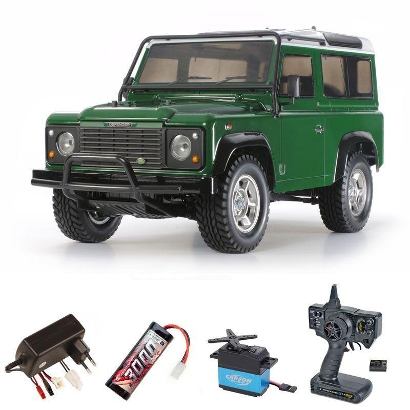TAMIYA Land Rover Defender 90 4wd Scaler 1 10 KIT SET COMPLETO - 300058657set