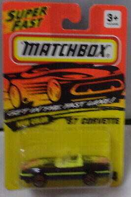 Matchbox-MB14 Chevy Corvette Roadster com BOX-1987 Da Tailândia
