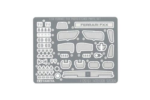 TAMIYA 12616 1//24 Ferrari FXX Photo-Etched Parts Set