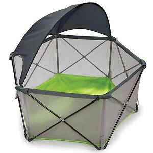 Infant Pop N Play Portable Playard Canopy Baby Pet Outdoor Sun Child NEW